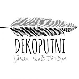 Dekoputni, logo, dekoputni dekorēšana